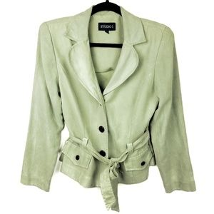 Studio I Soft Green Blazer Jacket Size 12
